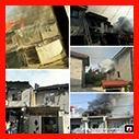 آتش سوزی دو باب خانه دوبلکس در رشت /آتش نشانی رشت