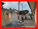 آتش سوزی گسترده منزل مخروبه در خیابان شهدای رشت/آتش نشانی رشت