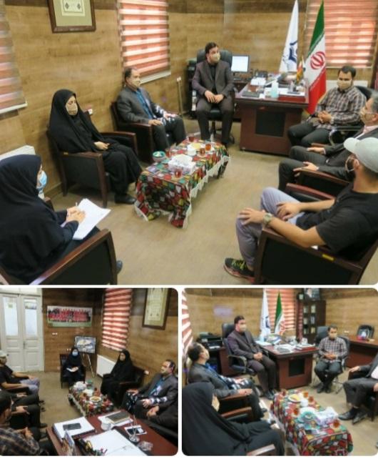 نشست مشترک رئیس سازمان فرهنگی، اجتماعی و ورزشی شهرداری رشت  با رئیس هیأت بسکتبال استان