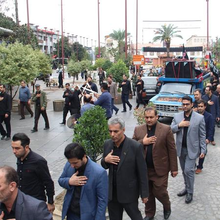 گزارش تصویری از هیئت عزاداری کارکنان شهرداری و شورای اسلامی شهر رشت
